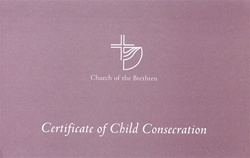 Certificate of Child Consecration
