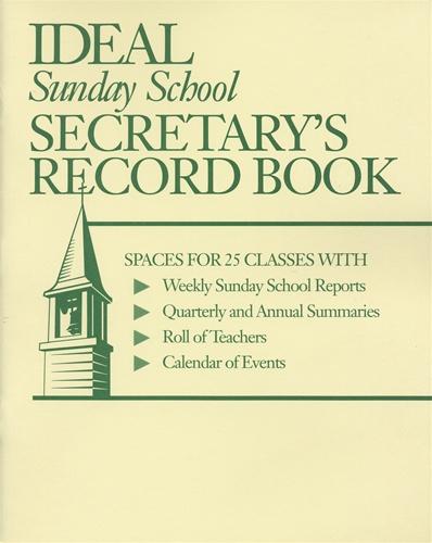 ideal sunday school secretary s record book