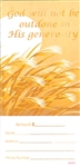 Wheat Pew Offering Envelopes - package of 100