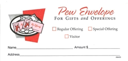 Plate Pew Offering Envelopes - package of 100