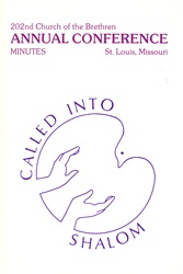 1988 Annual Conference Minutes: Called into Shalom