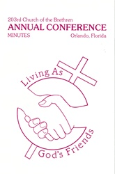 1989 Annual Conference Minutes: Living as God's Friends