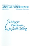 1990 Annual Conference Minutes: Living in Obedience to God's Calling