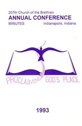 1993 Annual Conference Minutes: Proclaiming God's Peace