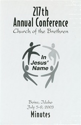 2003 Annual Conference Minutes: In Jesus' Name