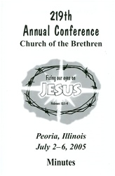 2005 Annual Conference Minutes: Fixing our Eyes on Jesus