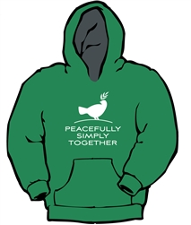 Peacefully, Simply, Together Dove - Hooded Sweatshirt