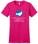 Peacefully, Simply, Together Dove - Ladies T-shirt