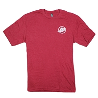 Soft Blend Logo Tee - Heathered Red