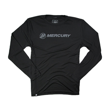 Mercury Offshore L/S Performance Tee - Black