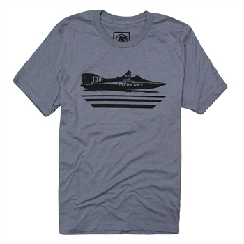 Vintage Team Boat Tee - Heather Storm Grey