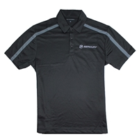 Performance Stripe Polo - Black / Steel Grey