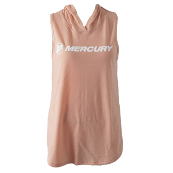 Women's Sleeveless Hoodie Tee - Dusty Peach