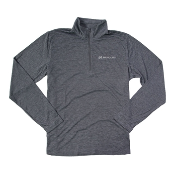 Triblend 1/4 Zip Pullover - Dark Grey