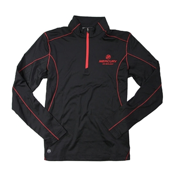 Pulse 1/4 Zip Pullover - Black / Red
