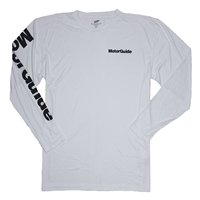 MotorGuide L/S Performance Tee - White