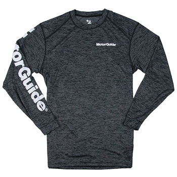 MotorGuide L/S Tonal Blend Performance Tee - Black