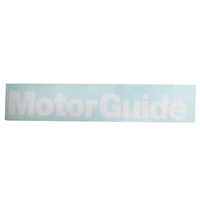 MotorGuide 8-Inch Vinyl Decal - White