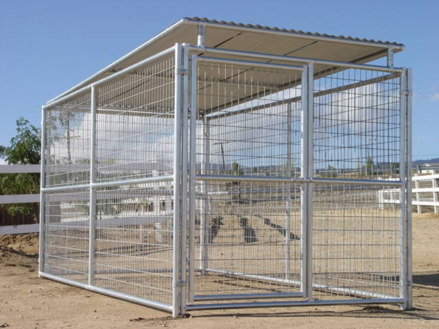 6 X 12 Dog Kennel W Roof Shelter