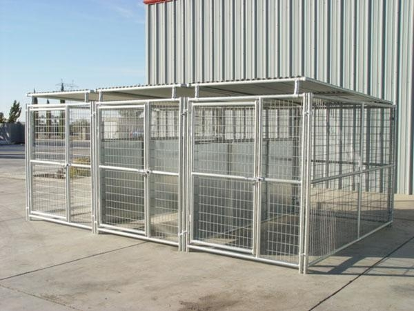 3 Run 5 X10 Dog Kennel W Roof Shelters Amp Fight Guard