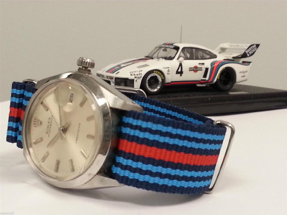 Nato Strap Martini Porsche Racing Stripes 911 964 965 993 991 997