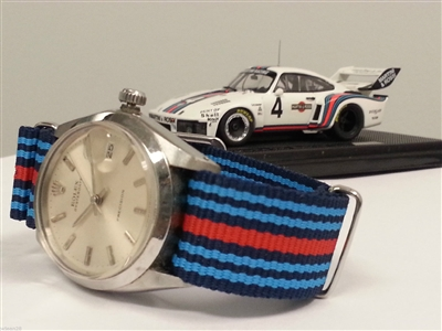 Nato strap - Martini Porsche racing stripes 911 964 965 993 991 997