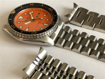 20mm or 22mm SEIKO super oyster TYPE l (CURVED hollow ends & regular spring bars)