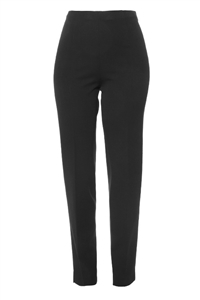 Cigarette Leg Pant w/ Side Zip  Black