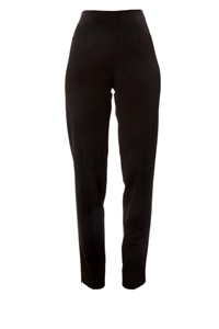 Stretch Cotton Cigarette Leg Pant w/ Side Zip black