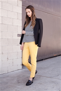 'Zoe' Cotton Skinny Pull-On Pant