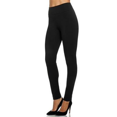High-Waist Stretch Ponte Knit Legging