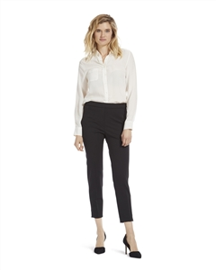 Crepe Relaxed Pull-On Pant