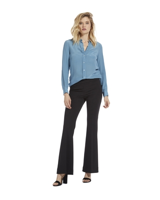 Crepe Pull On Flare Pant