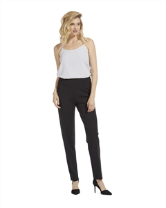 Crepe Cigarette Leg Pant w/ Side Zip