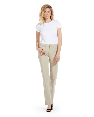 'Donna' Cotton Twill Straight-Leg Jean