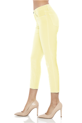 'Chelsea' Cropped Skinny Jeans | Citrine