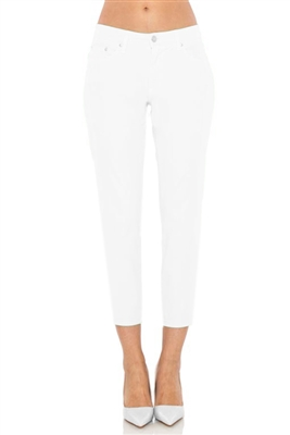 'Chelsea' Cropped Skinny Jeans | White