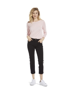 'Chelsea' Cropped Skinny Jeans | Black