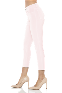 'Chelsea' Cropped Skinny Jeans | Organza Blush