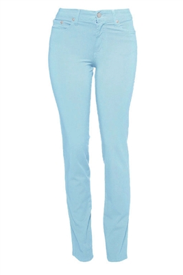 Cotton Twill Stretch Slim-Fit Jeans | Blue Air