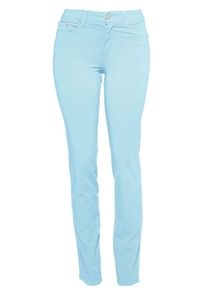 Cotton Twill Stretch Slim-Fit Jeans | Cerulean