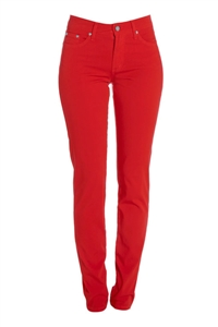 Cotton Twill Stretch Slim-Fit Jeans | Cherry Blast