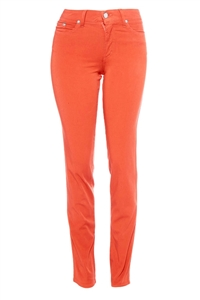 Cotton Twill Stretch Slim-Fit Jeans | Coral Cabana
