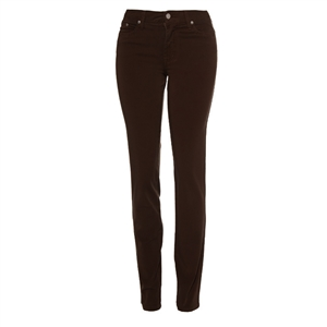 Cotton Twill Stretch Slim-Fit Jeans | Chocolate