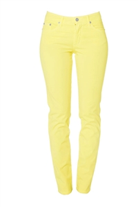 Cotton Twill Stretch Slim-Fit Jeans | Daffodil