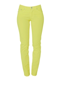 Cotton Twill Stretch Slim-Fit Jeans | Honeydew