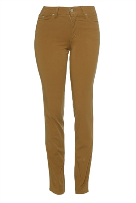Cotton Twill Stretch Slim-Fit Jeans | Hazelnut