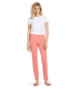 Cotton Twill Stretch Slim-Fit Jeans | Mellow Coral
