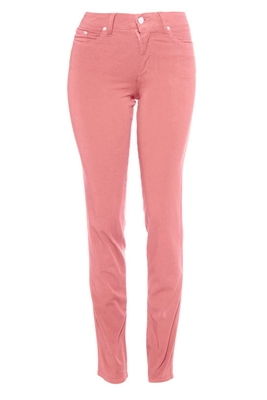 Cotton Twill Stretch Slim-Fit Jeans | Misty Mauve