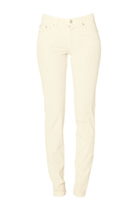 Cotton Twill Stretch Slim-Fit Jeans | Namaste Ivory